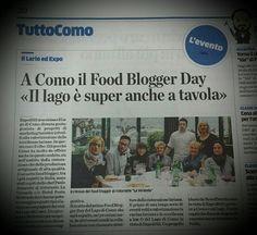"""Foto ucita sul giornale """"La Provincia"""" il 2 Dicembre 2014 in merito al #foodbloggerlakecomo  www.hotel-posta.it"""