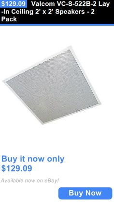 Other iPod and Audio Player Accs: Valcom Vc-S-522B-2 Lay-In Ceiling 2 X 2 Speakers - 2 Pack BUY IT NOW ONLY: $129.09