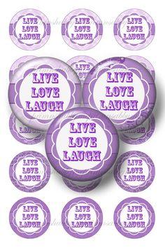 Live Laugh Love Purple Images | ... inch Circles Purple Bottle Cap Images Sayings LIVE LOVE LAUGH (No.2