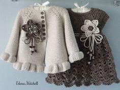 Knitting PATTERN Baby Jacket Crochet PATTERN Baby Dress Baby Cardigan Baby Girl Pattern Baby Outfit Newborn Baby Girl Clothes Pattern PDF – Knitting patterns, knitting designs, knitting for beginners. Knit Baby Dress, Crochet Baby Cardigan, Knit Baby Sweaters, Knitted Baby, Knit Crochet, Crochet Jacket, Newborn Crochet, Crochet Gifts, Knitting Sweaters