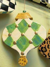painted harlequin ornament