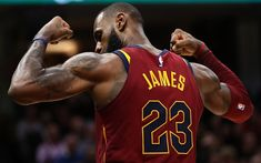 Download wallpapers LeBron James, Cleveland Cavaliers, American basketball player, NBA, USA, basketball, 4k