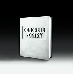 "Timm Ulrichs – ""Concrete Poetry (Beton Buch)"", 1972/1977 – concrete – 30 x 25 x 6,5 cm"