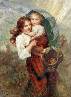 """Sunshine and Showers"" by Frederick Morgan (1856-1927) ==> https://en.wikipedia.org/wiki/Frederick_Morgan_(painter)"