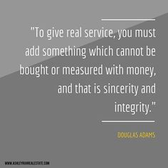 What I base my Life & Business on: SINCERITY & INTEGRITY