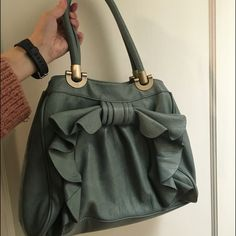 Teal Melie Bianco Angelica bow bag Beautiful faux leather teal shoulder bag by melie bianco. Very light use. In great condition. Looking for new home. Melie Bianco Bags