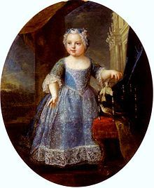 Marie Louise de France (1728 - 1733). Daughter of Louis XV and Marie Leszczyńska. She died young.