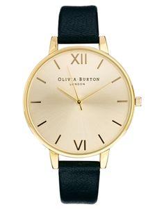 Bild 1 von Olivia – Burton – Uhr mit großem Zifferblatt und schwarzem Armband