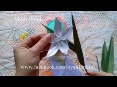 [How to make] Origami flower - Hướng dẫn gấp hoa ly 5 cánh - YouTube