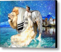 The King And His Bride Canvas Print / Canvas Art By Dolores Develde