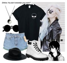 """""""Untitled #786"""" by natsuko-yuuki ❤ liked on Polyvore featuring Retrò, WithChic and Dr. Martens"""