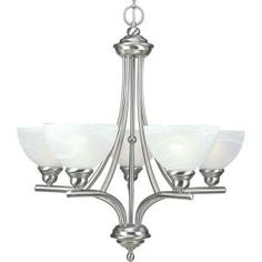 Progress Lighting Glendale Collection 5-Light Brushed Nickel Chandelier-P4083-09 at The Home Depot