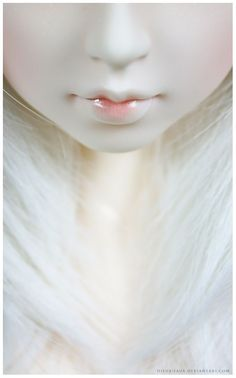 Pure by Geekisthecolour on DeviantArt I . believe that angels, or something like them, sometimes live among us, hidden within our fellow human beings. Shades Of White, Black And White, Pure White, Johann Wolfgang Von Goethe, Angels Among Us, Albino, Pink Lips, Winter White, Winter Moon