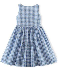 Ralph Lauren Little Girls' Gingham Poplin Dress