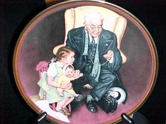 """Tender Loving Care"" 1988 by Norman Rockwell, Plate Number10594I"