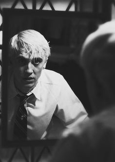 """"""" … throw roses into the abyss and say: 'here is my thanks to the monster who didn't succeed in swallowing me alive. Tom Felton, Draco Malfoy Aesthetic, Slytherin Aesthetic, B&w Wallpaper, Harry Potter Draco Malfoy, Harry Potter Pictures, Harry Potter Wallpaper, Black And White Aesthetic, Black And White Pictures"""