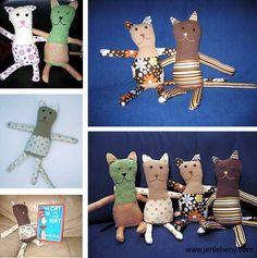 Handmade Cats www.jenleheny.com/handmade-cats