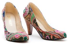 BULBUL vintage embroidered textile shoes #vegan from Love is Mighty