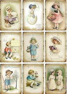 Little girls and boys vintage sheets Decoupage Vintage, Éphémères Vintage, Images Vintage, Decoupage Paper, Vintage Labels, Vintage Ephemera, Vintage Pictures, Vintage Cards, Vintage Paper