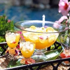 Fourth of July-Food ideas-Hawaiian lemonade - Serve this island-inspired blend of lemonade, apricot nectar, pineapple juice, and ginger ale at a summer cookout.