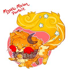 (CLOSED) Sushi Cat Auction :: Mystic Melon Parfait by witchpaws on DeviantArt