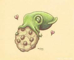 Cookie Squid by MegLyman I have a print of this in my house.