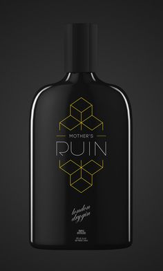 mother's ruin gin on the dieline