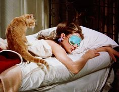 Sleeping Breakfast at Tiffany's style with Audrey Hepburn