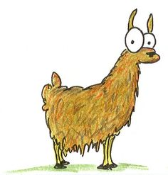 Drawing Of Llama