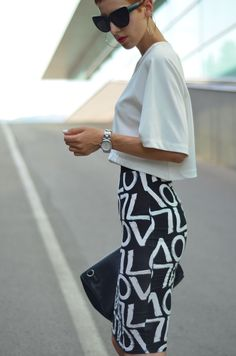 Graffiti Printed Skirt  #Tanks #Graphic #Skirts #Clutches