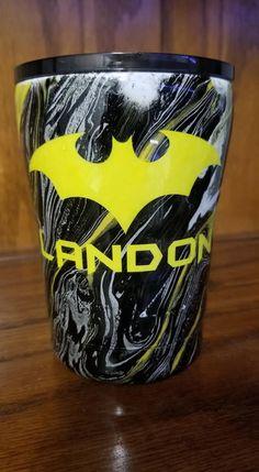 Diy Tumblers, Glitter Tumblers, Custom Tumblers, Batman Room, Batman Batman, Tumbler Boys, Girls Cup, Batman Gifts, Painted Cups