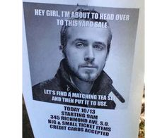 Funny Yard Sale Meme : My wife's yard sale signs for tomorrow. : funny yard sale