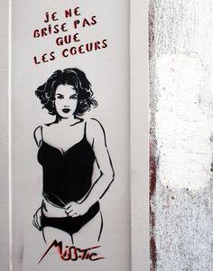 Miss Tic sur les murs de Paris