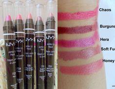 5 Hot NYX Jumbo Lip Pencil Reviews & Swatches Indian Brown Skin Tone