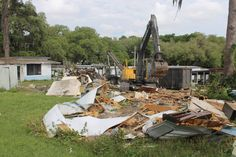 House Trailer Removed From Countryside Village Mobile Home Park