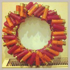 My autumnal shotgun cartridge wreath!