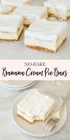 Irish Desserts, Instant Banana Pudding, No Bake Banana Pudding, Baked Banana, Jenny Cookies, Easy Baking Recipes, Bread Recipes, Pork Recipes, Cooking Recipes