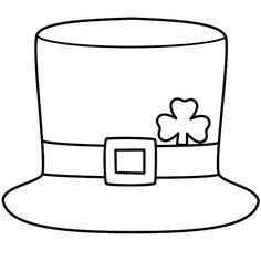 Leprechaun Hat - Coloring Page (St. Patrick's Day) - Leprechaun Hat – Coloring Page (St. Patrick's Day) Leprechaun Hat – Coloring Page (St. St Patricks Day Hut, St Patricks Day Cards, St Patricks Day Crafts For Kids, March Crafts, St Patrick's Day Crafts, Free Kids Coloring Pages, Coloring Pages For Kids, Chapeau Saint Patrick, Sant Patrick