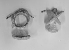 Sally's and Jess pieces made with the cuttlefish casting
