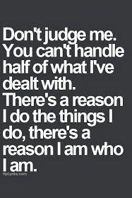 More Than Sayings: Don't judge me