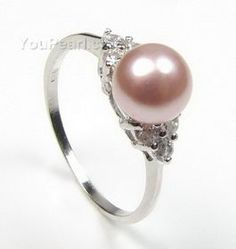 5-6mm sterling black pearl dress ring discounted sale, US size 7