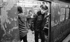 retronewyork:    NYC Subway 80s by Olivier Nade on Flickr.    NYPD: Eyes peeled for perps in pre-drone New York.