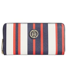 Tommy Hilfiger Th Serif Signature Printed Large Zip-Around Wallet