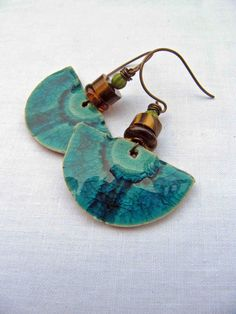 #Blue #Polymer #Clay #Artisan #Designer #Handcrafted #Earrings Everyday, Claire Lockwood
