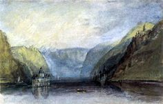 The Palatinate near Kaub to Joseph Mallord William Turner we manufacture for you on watercolor paper, canvas or poster paper. Joseph Mallord William Turner, Watercolor Sketch, Watercolor Artists, Turner Watercolors, English Romantic, Tate Gallery, Ecole Art, English Artists, Famous Art