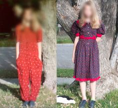 Mother forces daughter to wear ugly clothes.  Bad parenting example