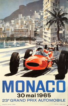 Postcard With Monaco Grand Prix Poster today price drop and special promotion. Get The best buyThis Deals Postcard With Monaco Grand Prix Poster today easy to Shops & Purchase Online - transferred directly secure and trusted checkout. Michael Turner, Old Poster, Retro Poster, Vintage Racing, Vintage Cars, Vintage Auto, F1 Posters, Monaco Grand Prix, Automotive Art