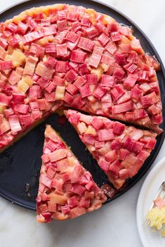 NYT Cooking: Take advantage of rhubarb season with this easy dessert. Baked and unmolded, this cake resembles a pale pink mosaic atop velvet-crumbed and vanilla-infused cake. The rhubarb, which you'll add in raw, is tangy and tender, firm enough to give you something to chew over. It's an easy half-hour of prep and another hour and change in the oven, ample time for a light supper, anticipation of dessert h...