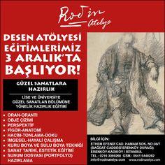 3 Aralık Cumartesi günü eğitimlerimize başlıyoruz.. www.rodinatelye.com
