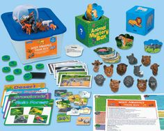 Lakeshore's Wild Animals Theme Box helps children learn all about their favorite wild animals—with comprehensive, hands-on lessons that span the curriculum!
